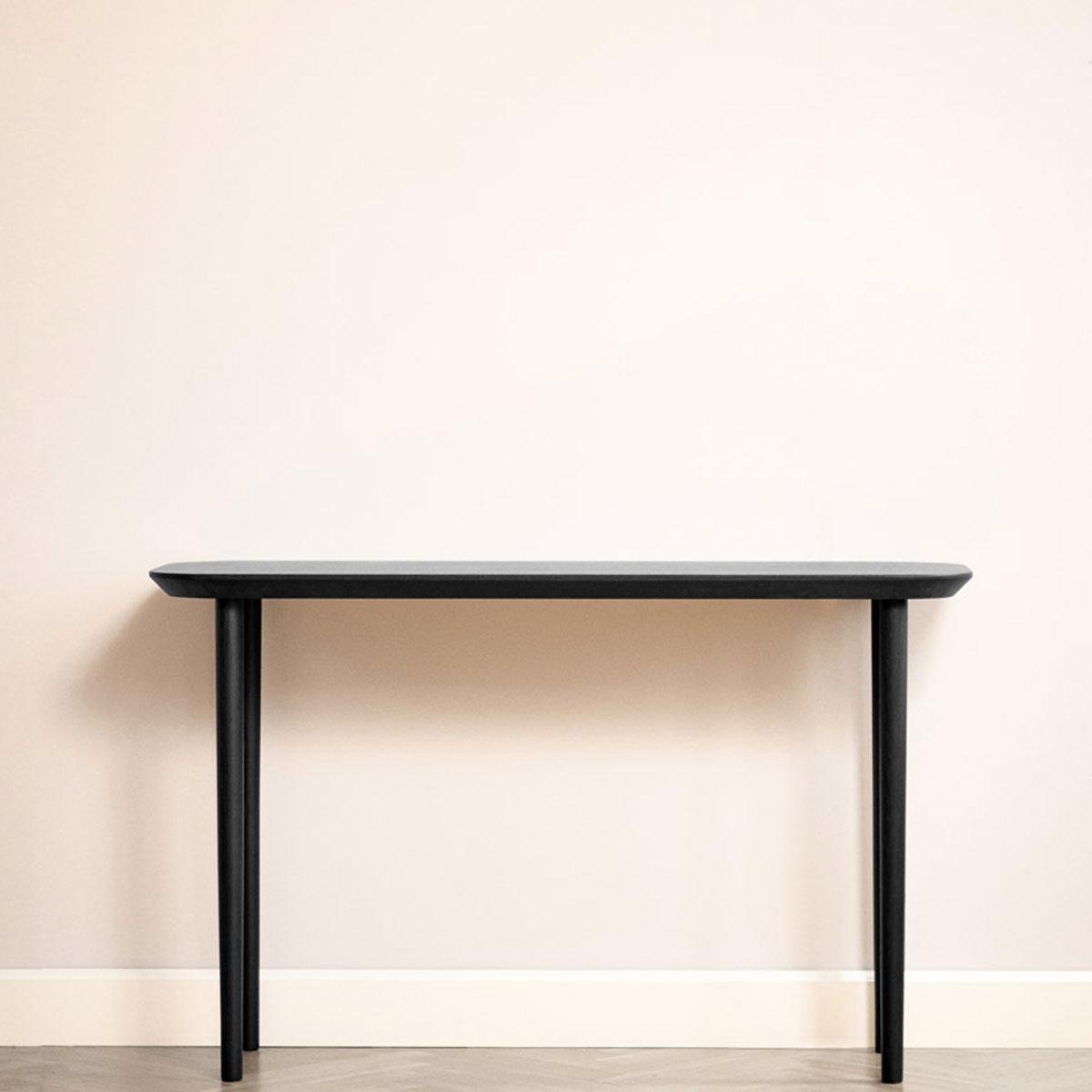 Højt aflangt T1 bord i bejdset egetræ Lindebjerg Design