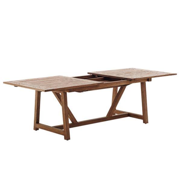 Sika design teak lucas spisebord med 2 udtræksplader