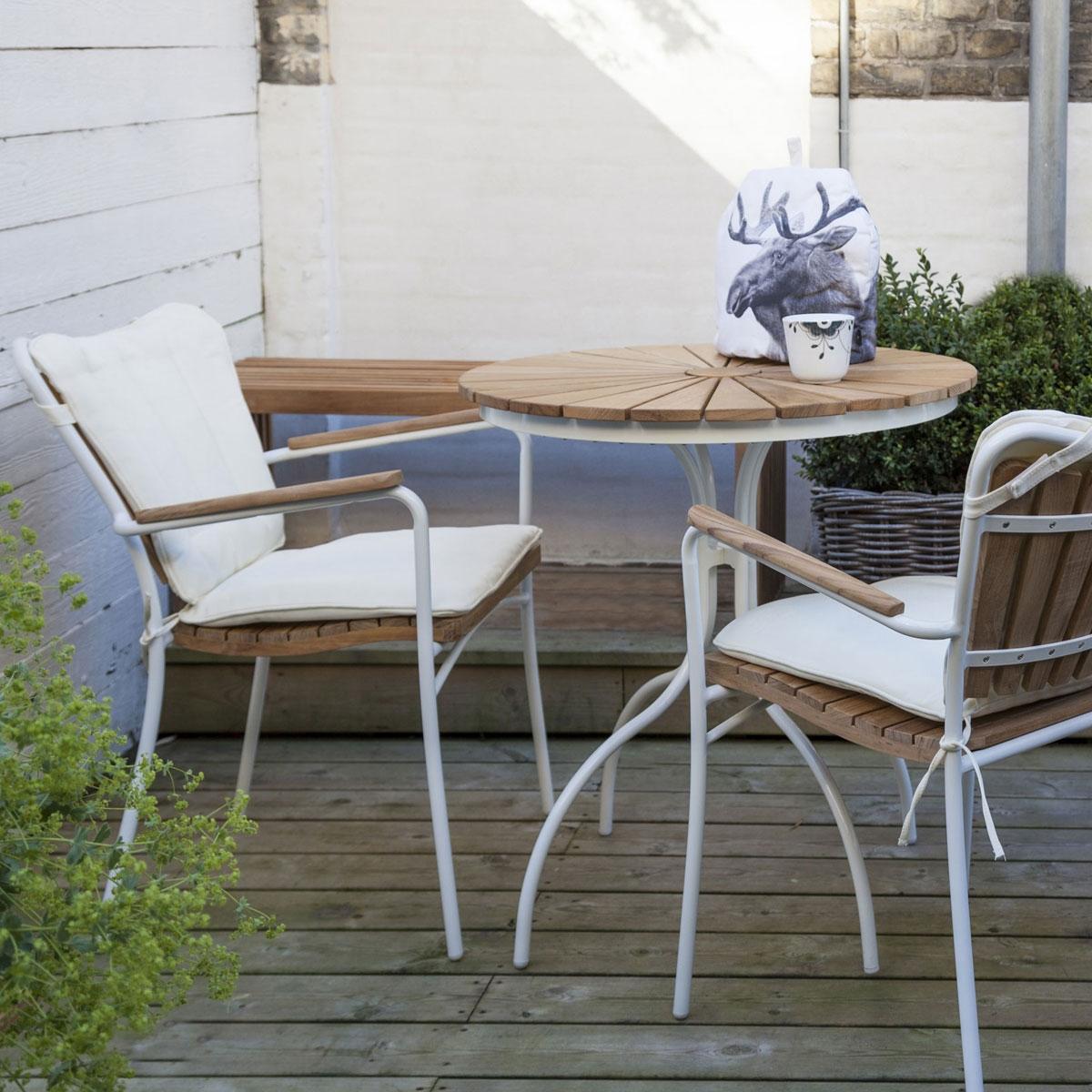 Hard & Ellen havesæt i teaktræ og alu margurit design
