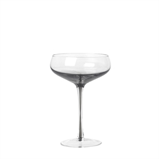 Cocktail glas smoke mundblæst i clear grey Broste Copenhagen