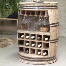 Crazy wine barrel storage fra Canett Furniture