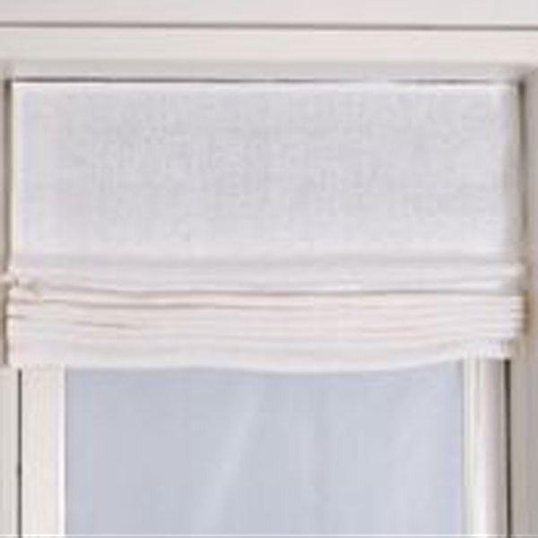 foldegardiner hør Foldegardin Basic 100% hvid hør fra Zanz Furniture foldegardiner hør
