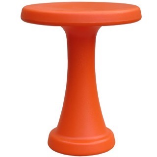 OneLeg skammel orange plastik
