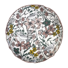 Cozy living living floral bird round