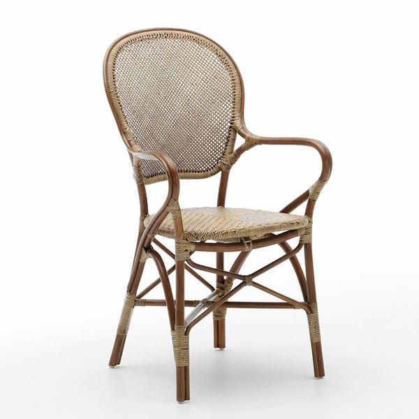 Avanceret Rossini antik spisestuestol i rattan fra Sika Design PU39